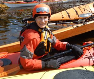 Christie Ellinger Kayaking on moon-river